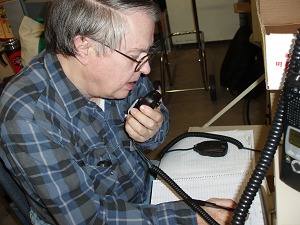 Marshall practicing as a Net Control Station (NCS) at the 2010 Simulated Emergency Test (SET)
